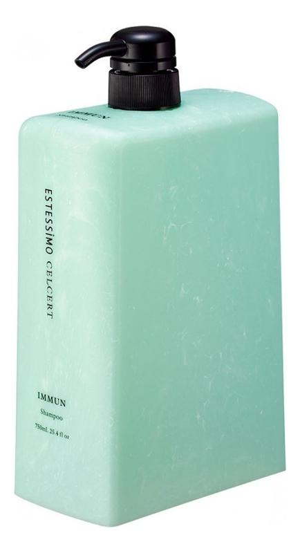 Восстанавливающий шампунь для чувствительной кожи головы Estessimo Celcert Immun Shampoo: Шампунь 750мл lebel cosmetics шампунь celcert meline shampoo увлажняющий 750 мл