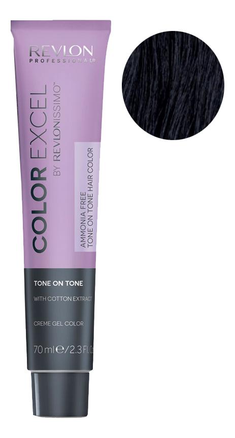 Крем-гель краска для волос Color Excel by Revlonissimo 70мл: 2.10 Иссине-Черный крем гель краска для волос color excel by revlonissimo 70мл 10 01 светло серебрянный
