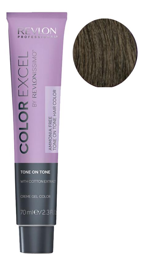 Крем-гель краска для волос Color Excel by Revlonissimo 70мл: 5 Светло-Коричневый крем гель краска для волос color excel by revlonissimo 70мл 10 01 светло серебрянный