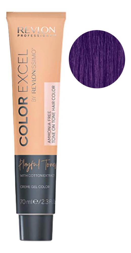 Крем-гель краска для волос Color Excel by Revlonissimo Playful Tones 70мл: 200 Lilac крем гель краска для волос color excel by revlonissimo 70мл 10 01 светло серебрянный