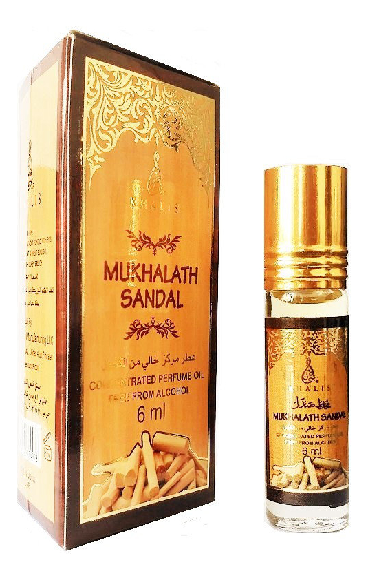 Khalis Mukhalat Sandal: масляные духи 6мл khalis noor масляные духи 6мл