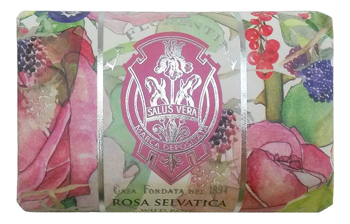 Мыло Rosa Selvatica Saponetta: Мыло 200г мыло giardino segreto spigo tosmano camomilla saponetta 270г