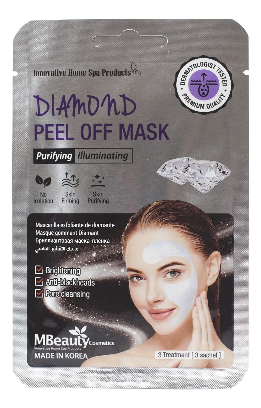 Маска-пленка для лица с бриллиантовой пудрой Diamond Peel Off Mask 3*7г fitness model лифтинг крем для лица роскошный омолаживающий с бриллиантовой пудрой 45 мл