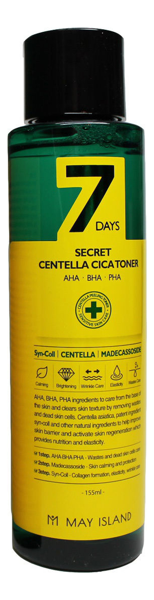 Тонер для лица 7 Days Secret Centella Cica Toner 155мл успокаивающий тонер для лица centella green level calming toner 200мл