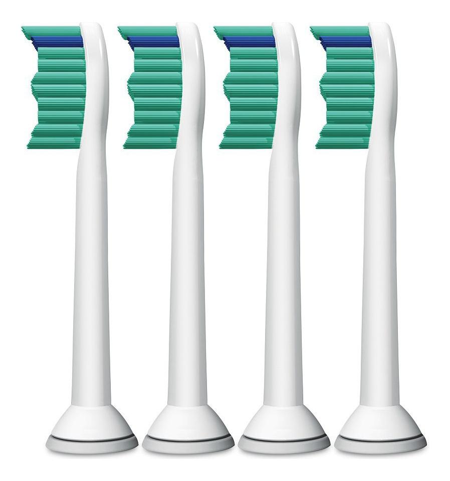 Сменная насадка для электрической зубной щетки ProResults Sonicare HX6014/07 4шт сменная насадка для электрической зубной щетки c2 optimal plaque defence sonicare hx9022 10 2шт