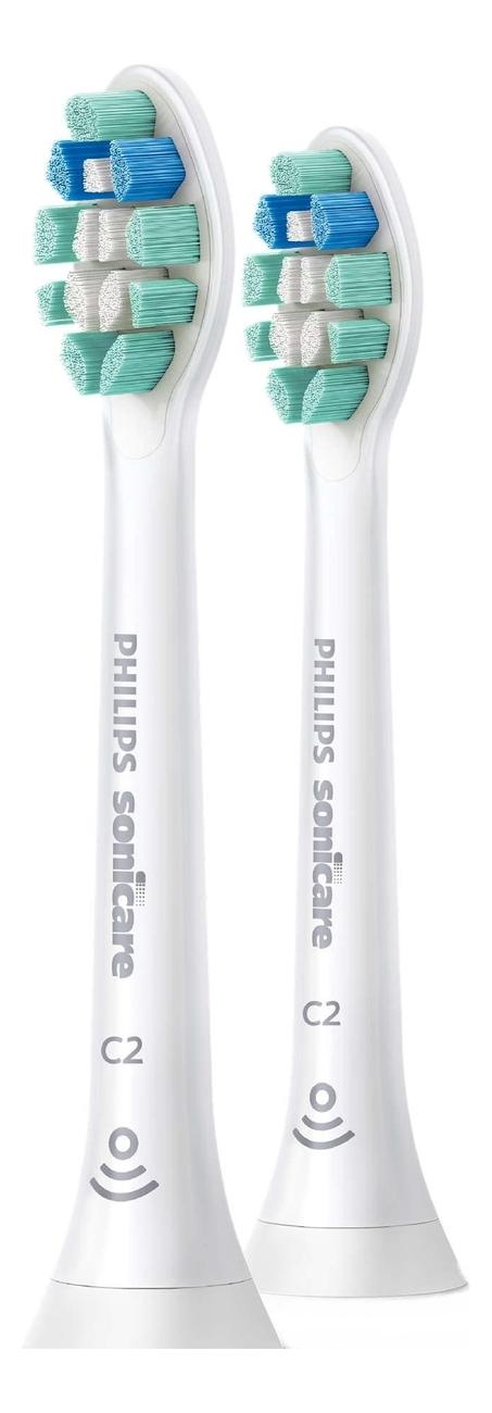 Сменная насадка для электрической зубной щетки C2 Optimal Plaque Defence Sonicare HX9022/10 2шт сменная насадка для электрической зубной щетки c2 optimal plaque defence sonicare hx9022 10 2шт