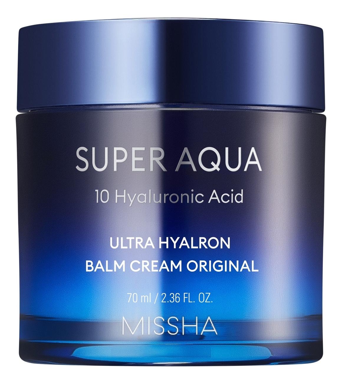 Увлажняющий крем-бальзам для лица Super Aqua Ultra Hyalron Balm Cream Original 70мл вв крем skin79 super plus beblesh balm orange 7 мл