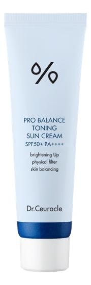 Солнцезащитный крем для лица Pro Balance Toning Sun Cream SPF50+ PA++++ 50мл крем для лица madecassoside blue tone up cream spf50 pa 50мл