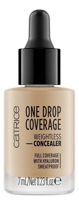 Консилер для лица One Drop Coverage Weightless Concealer 7мл: 030 Rosy Ash консилер для лица instant awake 1 8мл 030 neutral almond
