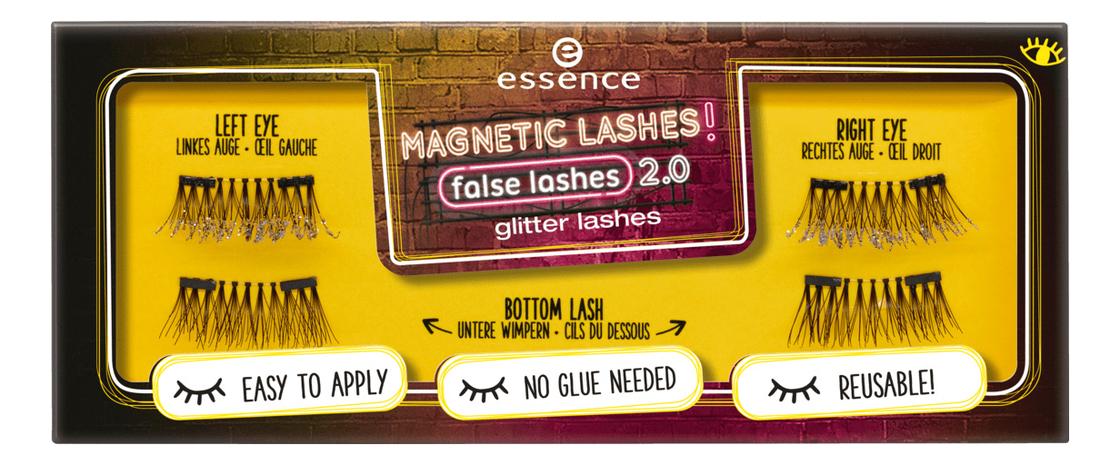 Накладные ресницы на магнитах Magnetic Lashes! False Lashes Glitter Lashes baci lashes темно красный накладные ресницы с перьями