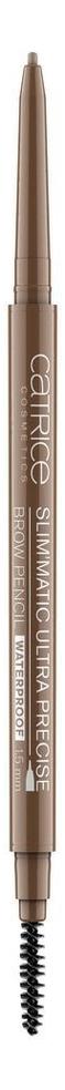 Карандаш для бровей Slim'Matic Ultra Precise Brow Pencil Waterproof 0,05г: 025 Warm Brown catrice контур для бровей slim matic ultra precise brow pencil waterproof 4 тона 1 шт тон 010 light светло коричневый