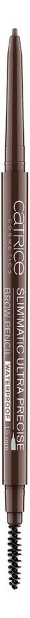 Карандаш для бровей Slim'Matic Ultra Precise Brow Pencil Waterproof 0,05г: 050 Chocolate catrice контур для бровей slim matic ultra precise brow pencil waterproof 4 тона 1 шт тон 010 light светло коричневый