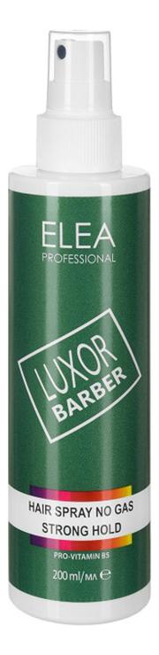 Жидкий лак для волос сильной фиксации Luxor Barber Hair Spray No Gas Strong Hold 200мл (без газа) lisap milano лак сильной фиксации без газа для укладки волос hair no gas strong high tech 300мл