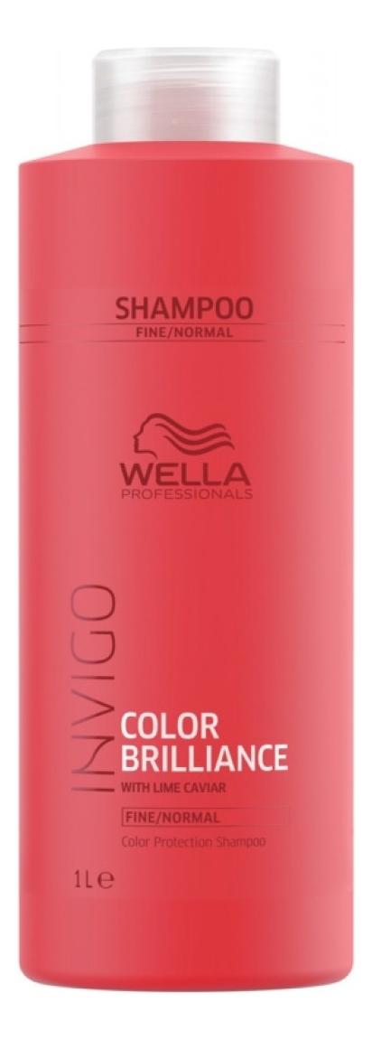 Шампунь для защиты цвета окрашенных нормальных и тонких волос Invigo Color Brilliance Shampoo: Шампунь 1000мл шампунь для тонких волос alter ego italy шампунь для тонких волос