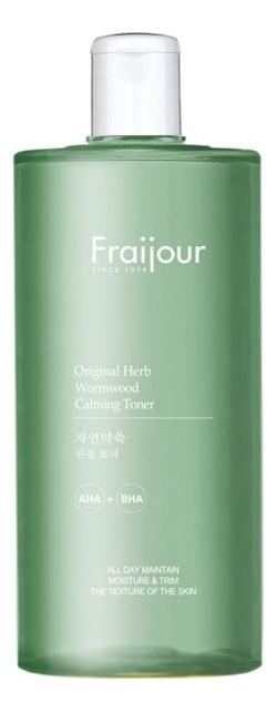 Тонер для лица Fraijour Original Herb Wormwood Calming Toner 500мл успокаивающий тонер для лица centella green level calming toner 200мл