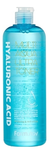 Увлажняющий тонер для лица с гиалуроновой кислотой Hyaluronic Acid Multi Aqua Ultra Toner 500мл тонер для лица с гиалуроновой кислотой hyaluronic acid gel toner 15г