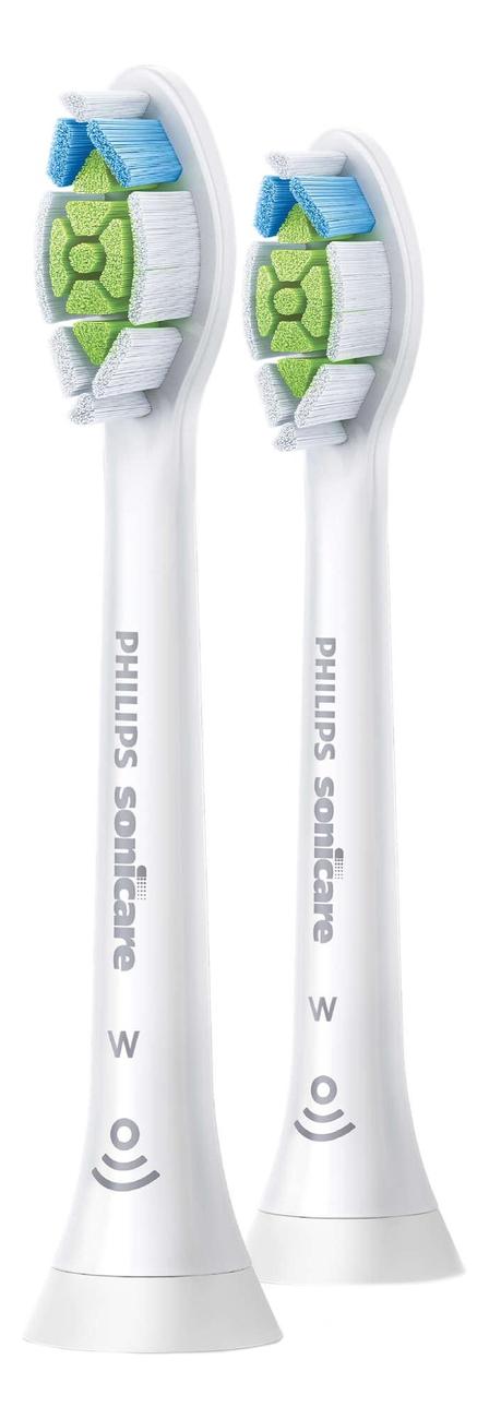 Сменная насадка для электрической зубной щетки Sonicare HX6062/10 2шт сменная насадка для электрической зубной щетки c2 optimal plaque defence sonicare hx9022 10 2шт