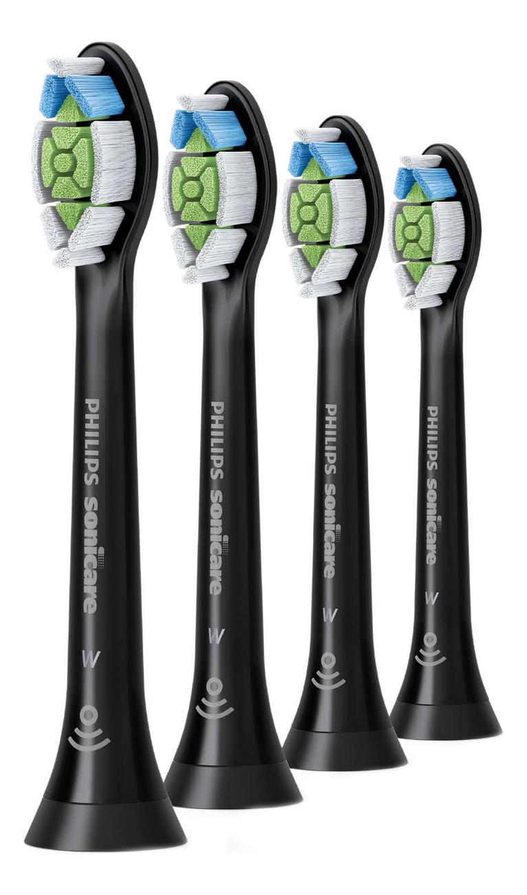 Сменная насадка для электрической зубной щетки Sonicare HX6064/11 4шт сменная насадка для электрической зубной щетки c2 optimal plaque defence sonicare hx9022 10 2шт