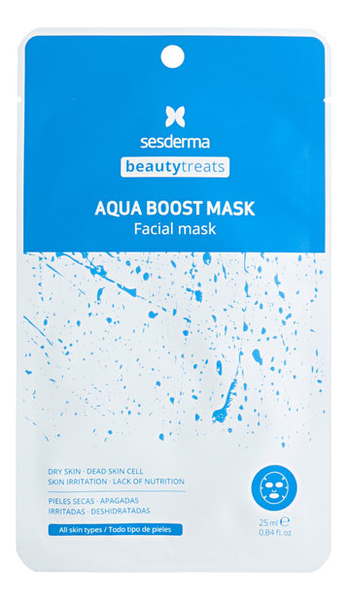 Тканевая маска для лица увлажняющая Beauty Treats Aqua Boost Mask 25мл guerlain super aqua mask увлажняющая маска super aqua mask увлажняющая маска