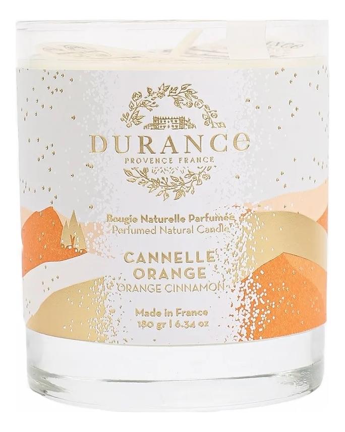 Ароматическая свеча Perfumed Natural Candle Orange Cinnamon 180г (апельсин и корица) ароматическая свеча perfumed candle cashmere wood 180г дерево кашемира