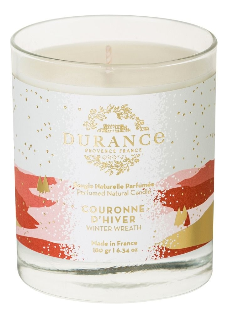 Ароматическая свеча Perfumed Natural Candle Winter Wreath 180г (зимний венок) ароматическая свеча perfumed candle cashmere wood 180г дерево кашемира