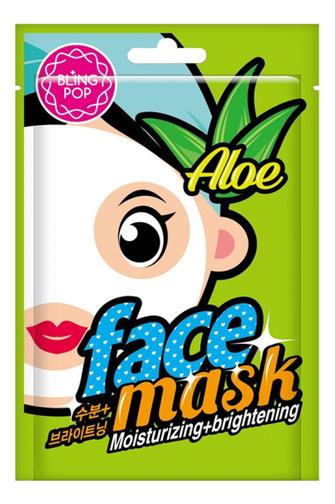 Тканевая маска для лица с экстрактом алоэ Aloe Moisturizing & Brightening Mask: Маска 20мл phyto therapy mask тканевая маска с алоэ противовоспалительная sheet aloe polyphenol moisturizing