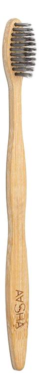 Бамбуковая зубная щетка с угольным напылением Eco-Friendly BPA Free (средняя)