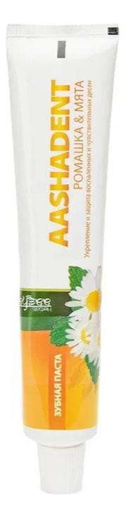 Зубная паста Ромашка & мята Aashadent 100г зубная паста корица кардамон aasha herbals