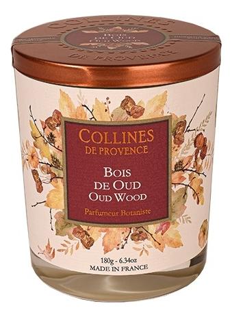 Ароматическая свеча Oud Wood (удовое дерево): Свеча 180г ароматическая свеча perfumed candle cashmere wood 180г дерево кашемира