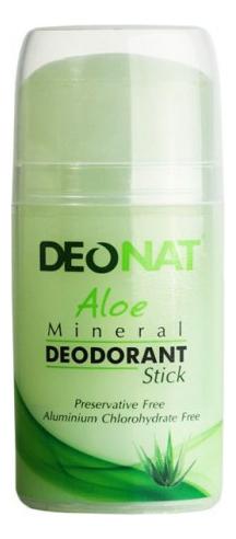 Дезодорант-кристалл с соком алоэ вера Aloe Mineral Deodorant Stick 100г: Овальный deonat дезодорант кристалл природный в подарочной коробочке 155 г