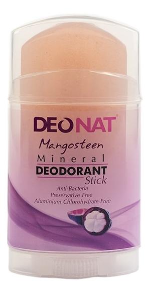 Дезодорант-кристалл с соком мангостина Mangosteen Mineral Deodorant Stick: Дезодорант 100г deonat дезодорант кристалл природный в подарочной коробочке 155 г