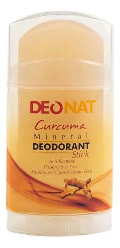 Дезодорант-кристалл с куркумой Curcuma Mineral Deodorant Stick: Дезодорант 100г deonat дезодорант кристалл природный в подарочной коробочке 155 г