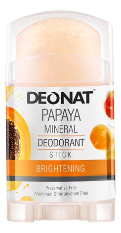 Дезодорант-кристалл с экстрактом папайи Papaya Mineral Deodorant Stick: Дезодорант 100г deonat дезодорант кристалл природный в подарочной коробочке 155 г