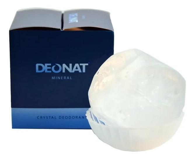Дезодорант-кристалл природной формы Mineral Crystal Deodorant 155г deonat дезодорант кристалл природный в подарочной коробочке 155 г