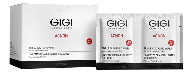 Салфетки-пилинг для лица Acnon Triple Acid Rapid Wipes 30шт