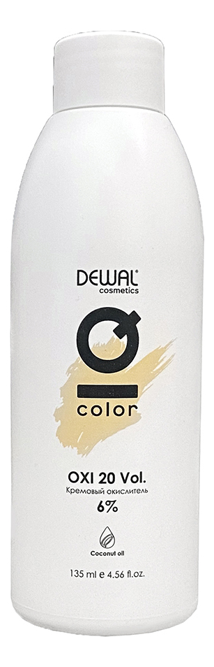 Кремовый окислитель с кокосовым маслом Cosmetics IQ Color OXI 6%: Окислитель 135мл кремовый окислитель с кокосовым маслом cosmetics iq color oxi 3% окислитель 1000мл