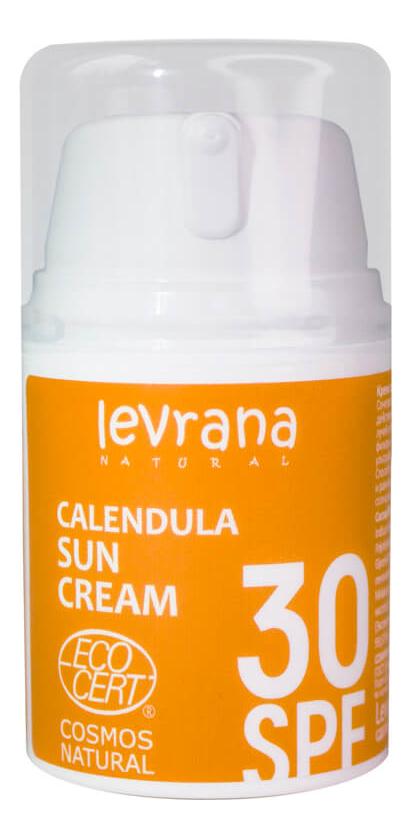 Солнцезащитный крем для тела с гидролатом календулы Calendula Sun Cream 50мл: Крем SPF30 автозагар крем
