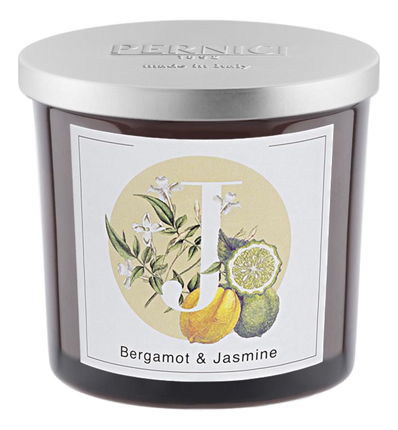 Ароматическая свеча Бергамот и Жасмин: свеча 200г ароматическая свеча leather juniper кожа можжевельник свеча 200г