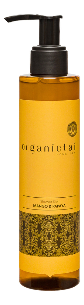 Натуральный бессульфатный гель для душа Shower Gel Mango & Papaya 200мл гель для душа organic therapy агент