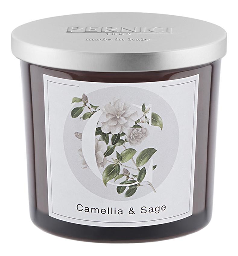 Ароматическая свеча Камелия и Шалфей: свеча 200г ароматическая свеча leather juniper кожа можжевельник свеча 200г