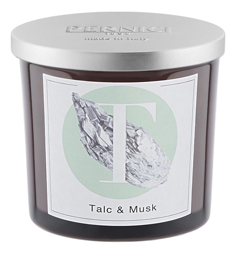 Ароматическая свеча Тальк и Мускус: свеча 200г ароматическая свеча leather juniper кожа можжевельник свеча 200г