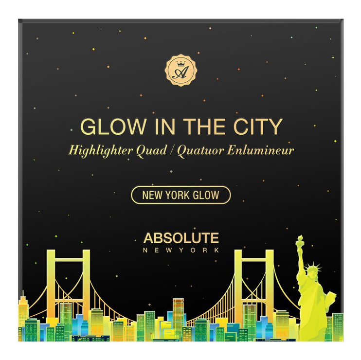 Палетка для макияжа лица Glow In The City New York 20г