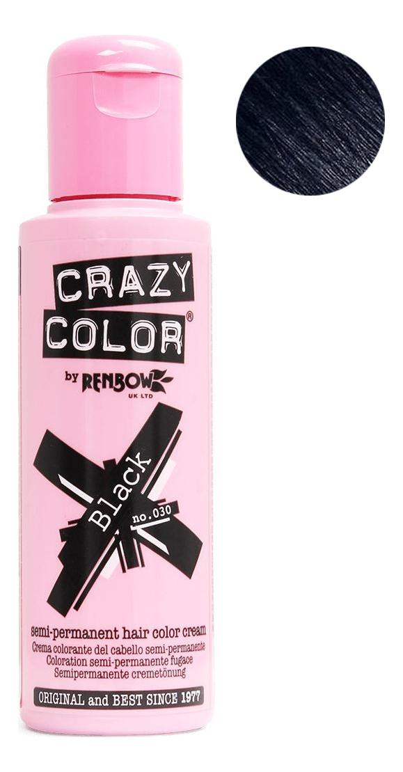 Краска для волос Semi-Permanent Hair Color Cream 100мл: 30 Black