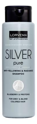 Нейтрализующий шампунь для седых, блондинистых, окрашенных или осветленных волос Chromacare System Silver Pure Anty-Yellow...