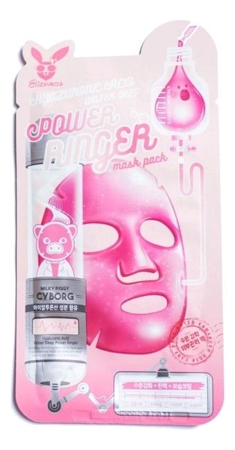 Тканевая маска для лица Hyaluronic Acid Water Deep Power Ringer Mask Pack 23мл: Маска 10шт
