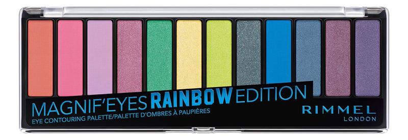 Фото - Палетка теней Magnif'Eyes Edition 14г: 011 Rainbow rimmel палетка теней