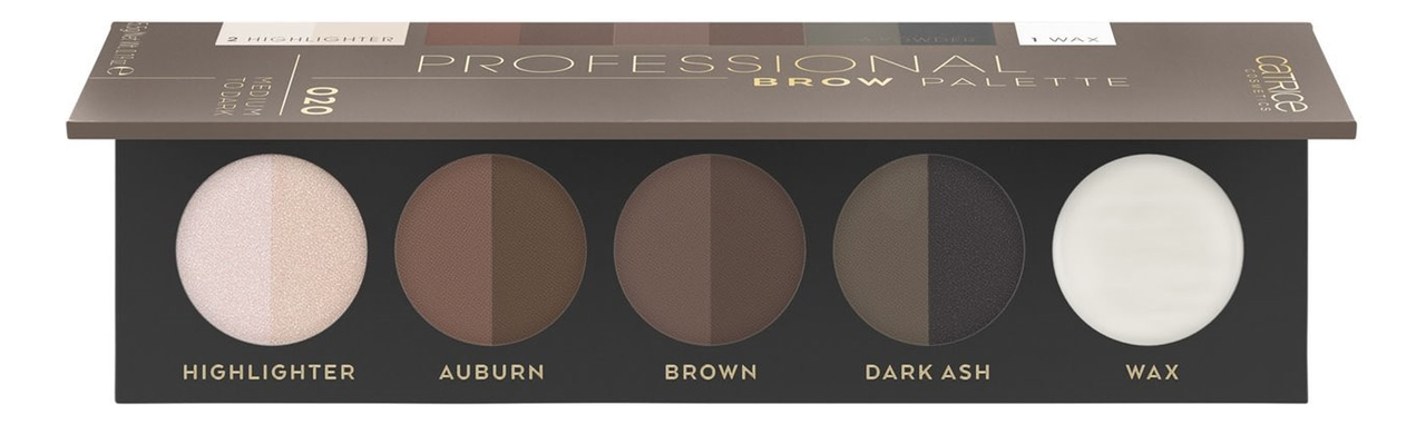 Палетка для макияжа бровей Professional Brow Palette 5,5г: 020 Medium To Dark ysl brow palette