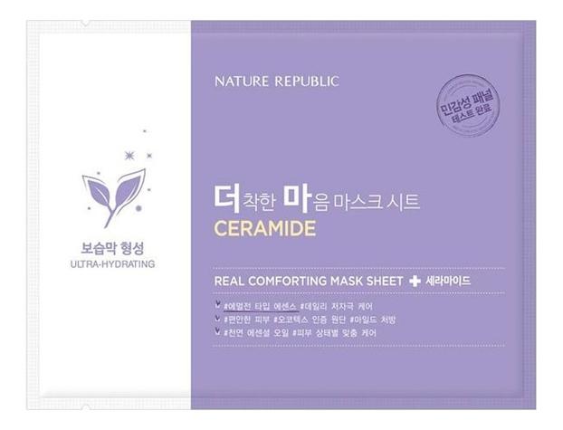 Тканевая маска для лица Real Comforting Mask Sheet Ceramide 24мл маска для лица листовая nature republic real nature royal jelly mask sheet 23 г