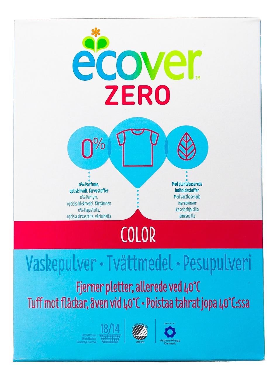Экологический стиральный порошок для цветного белья Zero Color 750г стиральный порошок grass alpi expert для цветного белья 10 кг