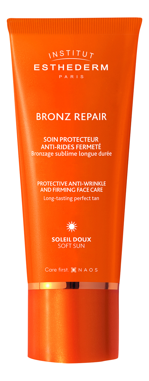 Крем для лица, шеи и зоны декольте Bronz Repair Protective Anti-Wrinkle Firming Face Care Gentle Sun 50мл
